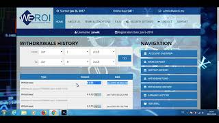 WeROI New Payment Proof 4% Daily interest Instant Withdraw Paying HYIP 2018