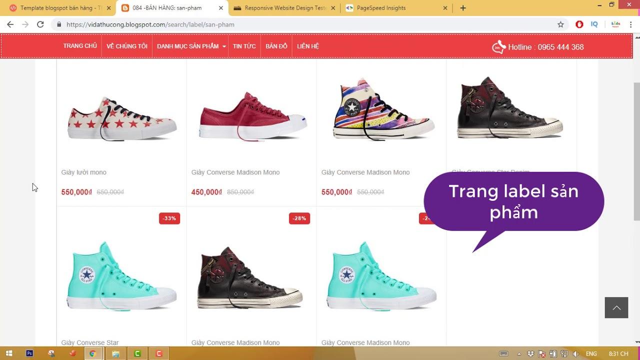 theme blogger bán hàng chuẩn seo 2019