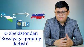 O`zbekistondan Rossiyaga qonuniy ketish! Chegaralar yopiq holatda Rossiyaga ketish tartibi!