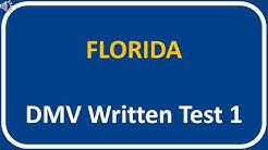 Florida DMV Written Test 1