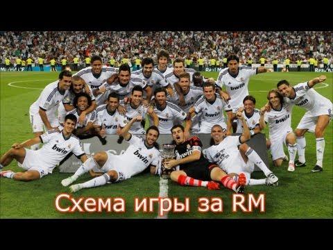 Схема игры за Real Madrid в FIFA 13