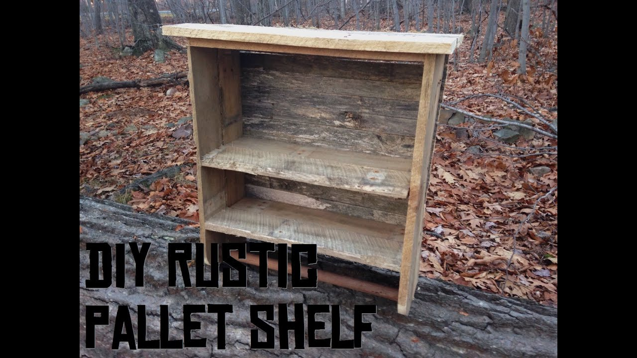 Shelves Made From Pallets Rustic Pallet Bathroom Shelf And Towel Rack Youtube