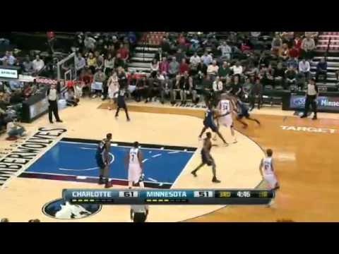 Malcolm Lee Dunks On Tyrus Thomas - Bobcats vs Timberwolves November 14, 2012 Basketball NBA Game