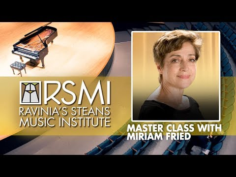 Ravinia's Steans Music Institute Master Class: Miriam Fried