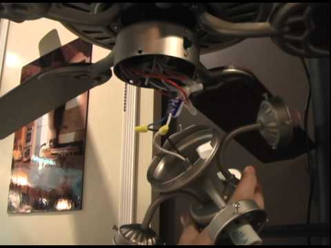 How to install a ceiling fan light kit youtube how to install a ceiling fan light kit aloadofball Image collections