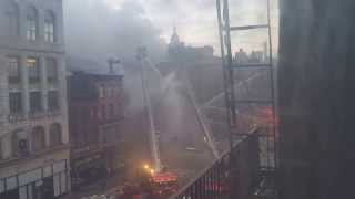 Sushi Park explosion and building collapse east village NYC 3/26/15 - timelapse