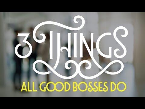 Kathryn Shaw: Three Things All Good Bosses Do