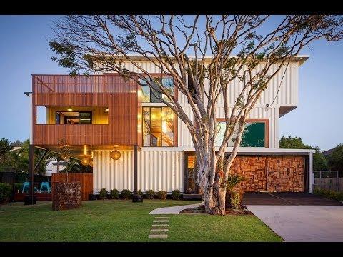Dise o de casa con contenedores reciclados youtube - Casas hechas con contenedores precios ...