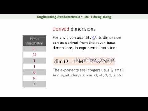 [2015] Engineering Fundamentals 01: Quantity, Dimension and Unit [with closed caption]