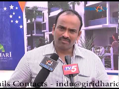 K. Indrasena Reddy, Managing Director of Giridhari constructions at Villa Onyx Venture Launch
