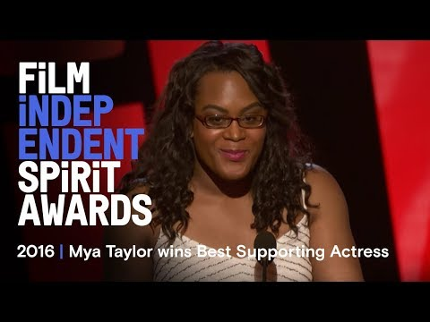 Mya Taylor wins Best Supporting Female at the 2016 Film Independent Spirit Awards
