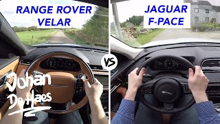 Range Rover Velar 3.0d 300hp VS Jaguar F-PACE 3.0d 300hp POV test drive