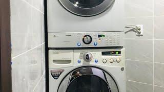 엘지 드럼세탁기+건조기 미사리 맛사지샾 설치