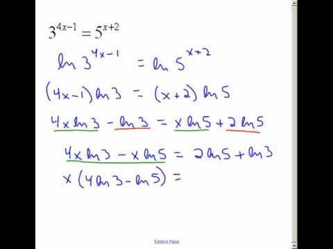 solving expontential equations with the variable in the exponent ...