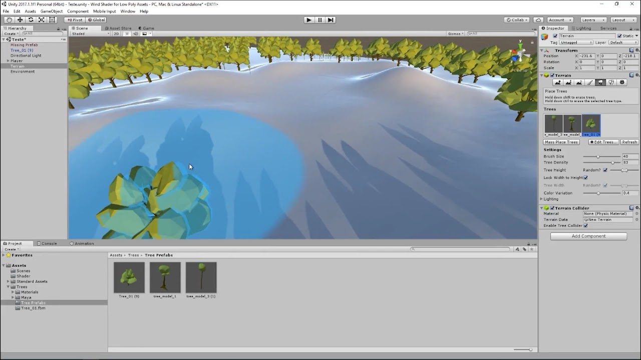 Polygon Wind - Used with Unity Terrain