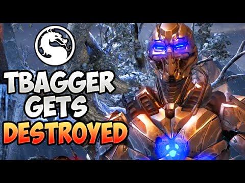 "Mortal Kombat X: TBAGGER GETS EMBARRASSED & DESTROYED - Mortal Kombat XL ""Cyber Sub Zero"" Gameplay  "