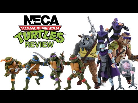 NECA TMNT  Figure Review Teenage Mutant Ninja Turtles Christmas Special