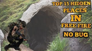 TOP 15 HIDDEN PLĄCES IN BERMUDA MAP OF FREE FIRE ll ONLY 2% PEOPLE KNOW THESE PLACES