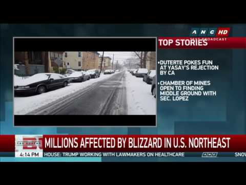 WATCH: Snowstorm slams northeastern U.S.