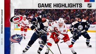 Hurricanes @ Blue Jackets 10/23/21 | NHL Highlights