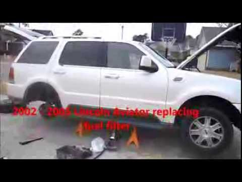 2002 - 2005 Lincoln Aviator replacing the fuel filter - YouTube