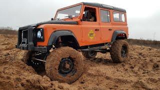 Land Rover Defender ... Радиоуправляемая трофийка 1/8