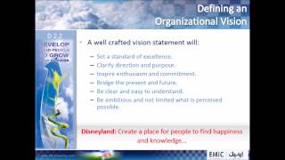 D 2.2 Defining an Organizational Vision