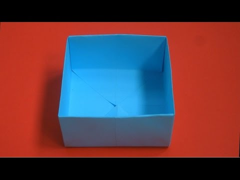 Как сделать коробку из бумаги. Оригами коробка. Origami box