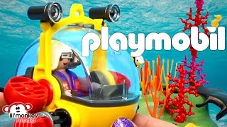 Playmobil Ocean Collection!  Underwater Wild Life, Divers, Deep Sea Diving Bell and More!