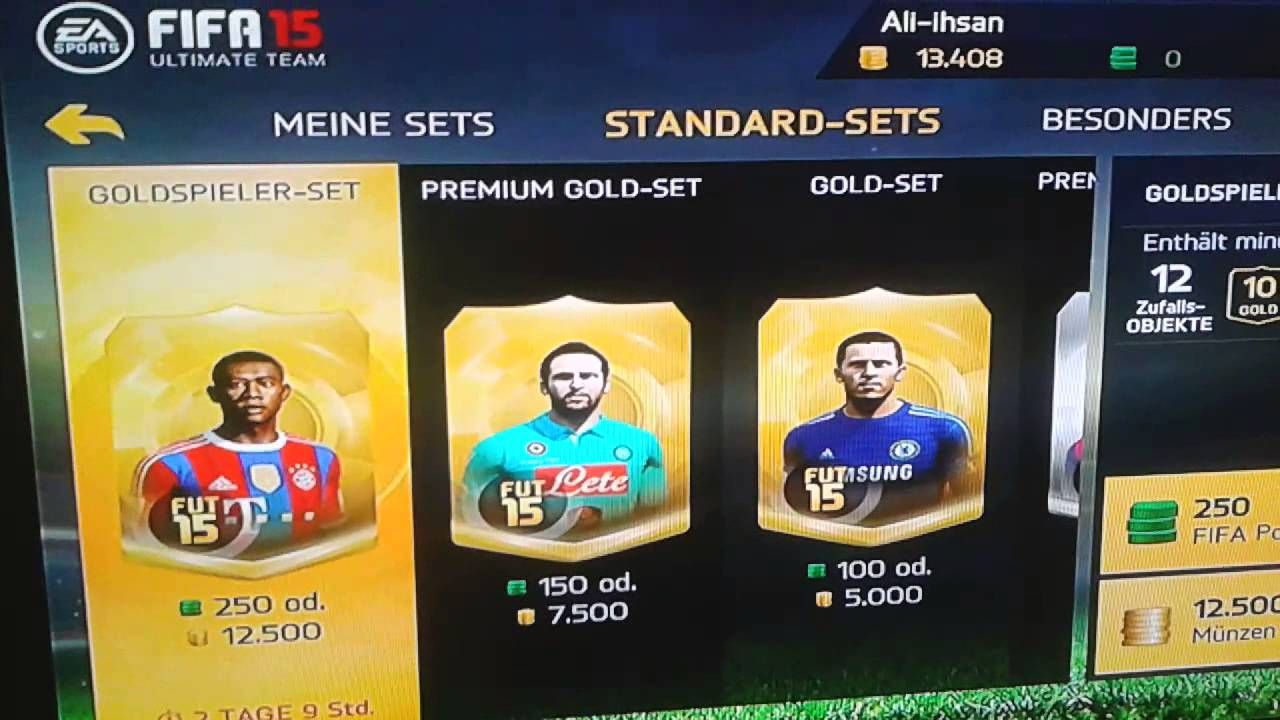 Fifa 15 Ultimate Team Pack Opening 1 Ipad Youtube