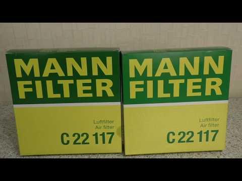 MANN C22117. Подделка? Сравнение воздушных фильтров Mann C22117 China Vs Germany