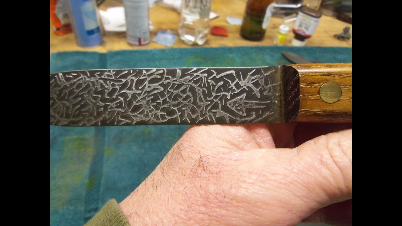 Acid Etching Knife Blades -- BRAIN DEAD--The Blade - YouTube