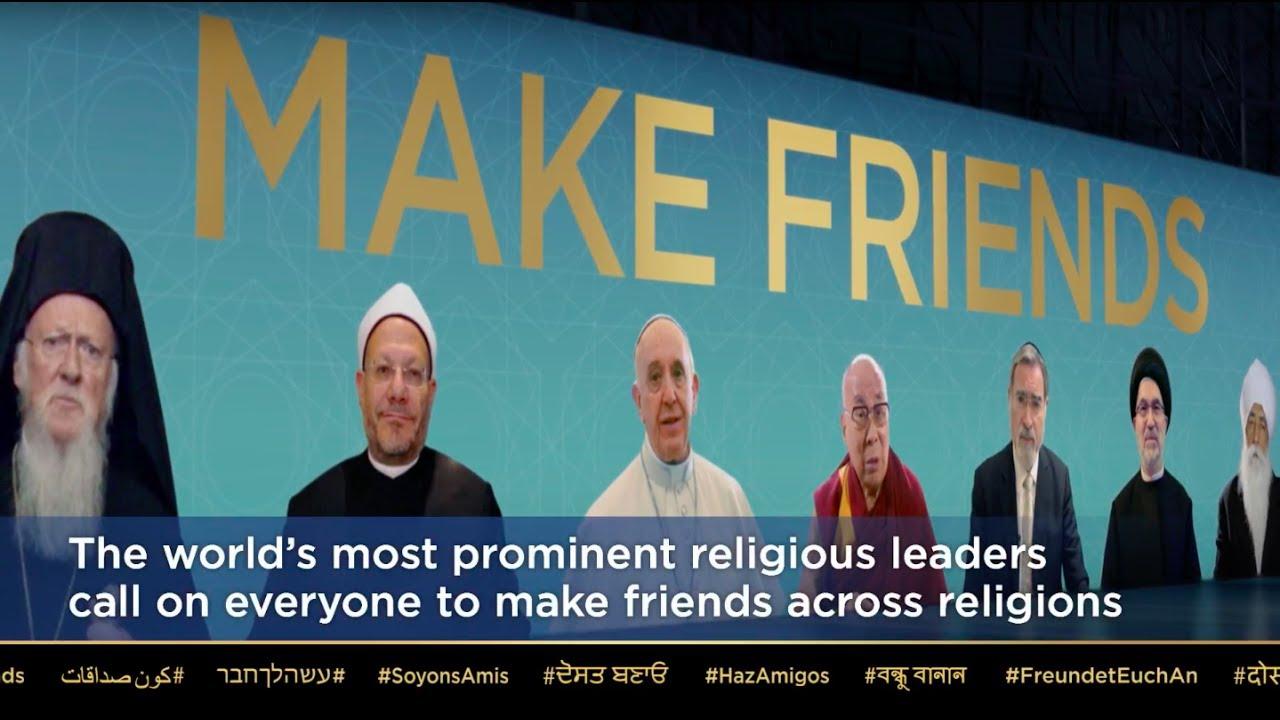 Dini liderlerden ortak çağrı: Farklı inançlardan insanlarla arkadaş olun