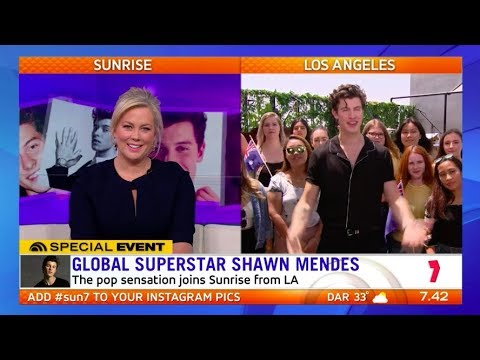 Shawn Mendes Speaks To Sunrise Direct From LA | Sunrise