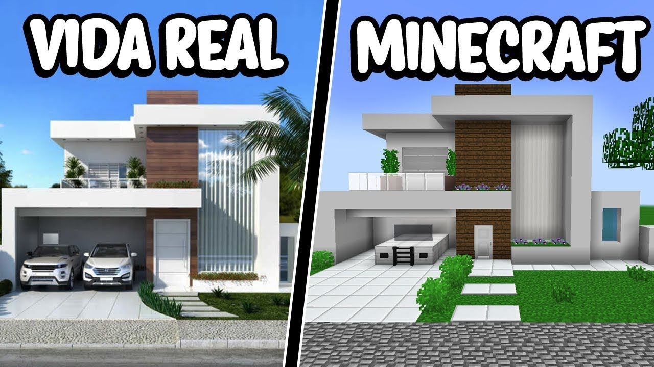 Reconstru uma casa moderna da vida real no minecraft for Casa moderna total white
