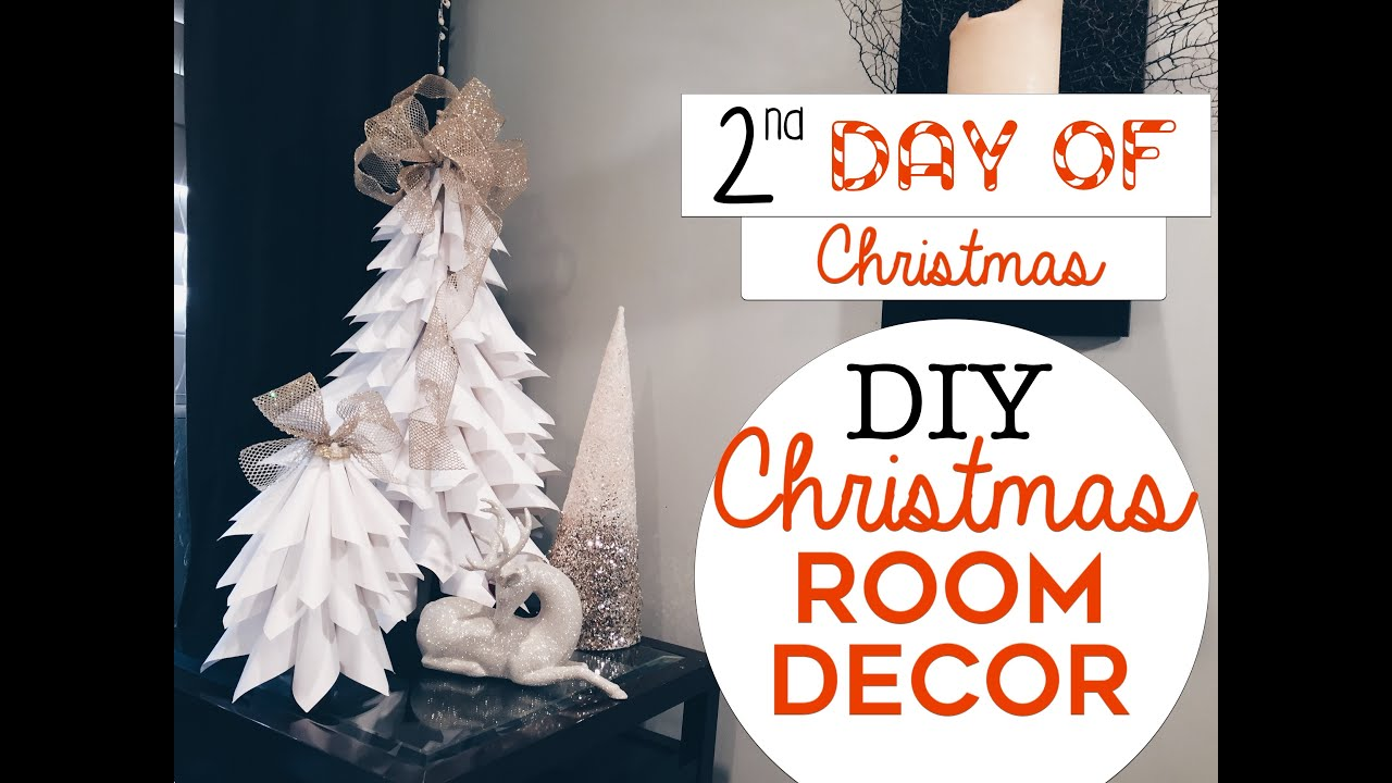 3 easy christmas room decor diys 2nd day of christmas diy christmas trees for small spaces youtube
