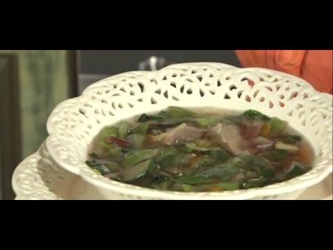 Суп из цукини с мятой и