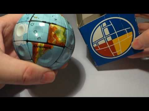 Vintage Rubik's cube Globe EARTH made in Hungary 80s, NEW condition, WITH BOX