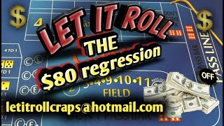 Craps Betting Strategy - The $80 Regression WIN MONEY ON FIRST THREE ROLLS!