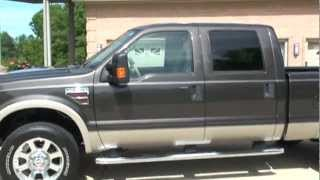 2008 FORD F250 LARIAT 4X4 CREW CAB 4X4 POWERSTROKE DIESEL FOR SALE SEE WWW SUNSETMILAN COM