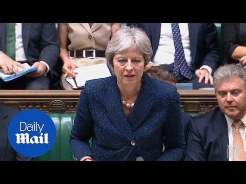 Theresa May addresses David Davis and Boris Johnson resignations - Daily Mail