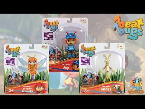 Beat Bugs Fab Figures Lucy Jay & Morgs