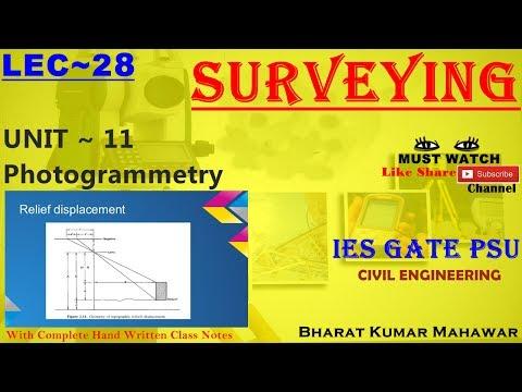 Surveying~ Lec 28~U11 ~ Photogrammetry(Relief Displacement) by Bharat Kumar Mahawar