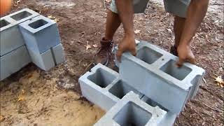 Building My First BBQ Pit/Smoker. How to build a BBQ Pit. (Cinder Blocks)