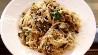 Spaghetti Aglio E Olio Recipe   Garlic Spaghetti - Italian Pasta Recipe   Ruchi's Kitchen
