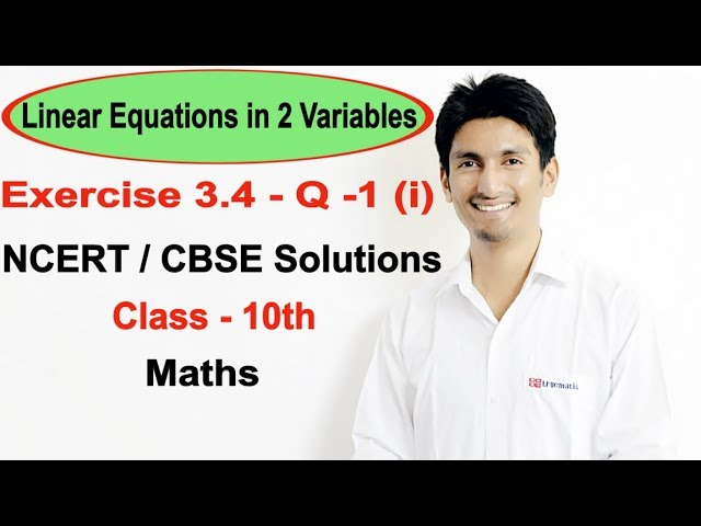 Exercise 3.4 Question 1 (i) - Linear Equations NCERT/CBSE Solutions for Class 10th Maths