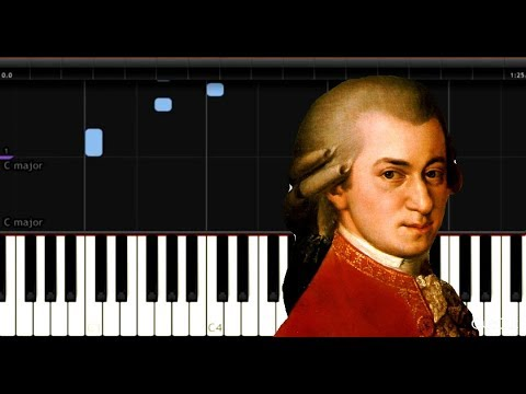 Mozart - Lullaby (K350) - Easy Piano Music