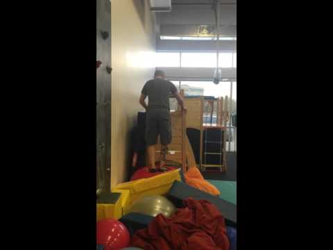 King Of Swings Hands on OT Workshop - Therapy Ball Obstacle Course Demo