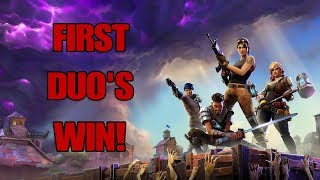 Fortnite Battle Royale - QUEUING FOR DUO'S BY ACCIDENT - GETTING THE W WITH A RANDOM!!