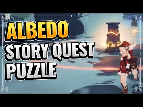 Solve the nearby mechanism (EASY TO FOLLOW!) Genshin Impact Dragonspine Albedo Story Quest